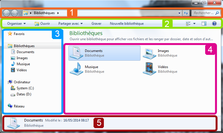 Explorateur Windows 7