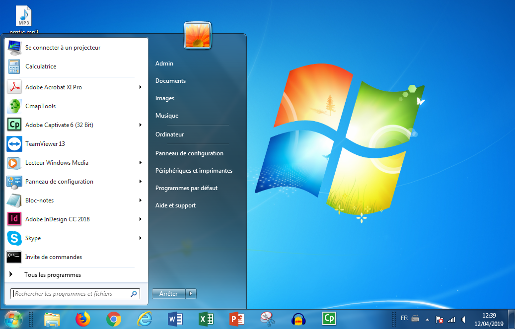 Interface Windows 7