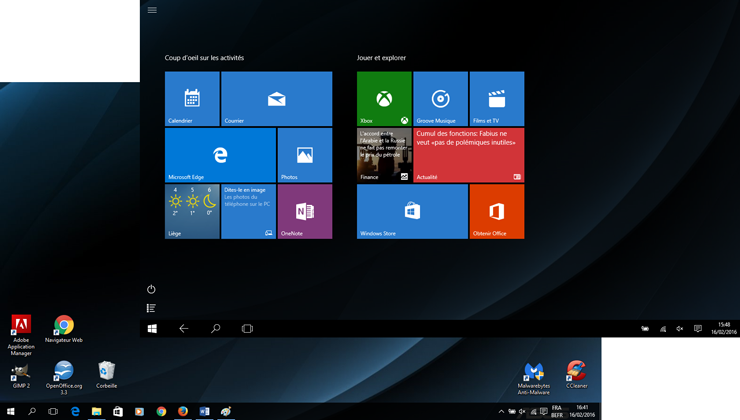 2 Interfaces de Windows 10