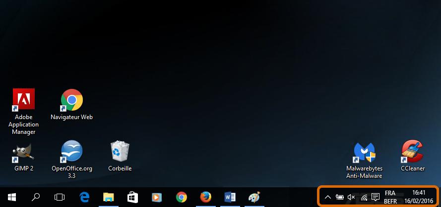 Personnaliser la zone de notification Windows 10 Zone-notification-emplacement