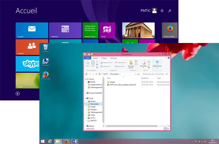 Interfaces de Windows 8
