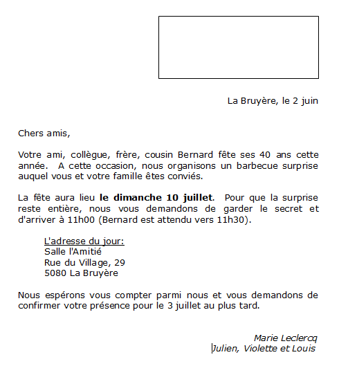 Exemple lettre type publipostage - Comment faire un publipostage sur open office ...