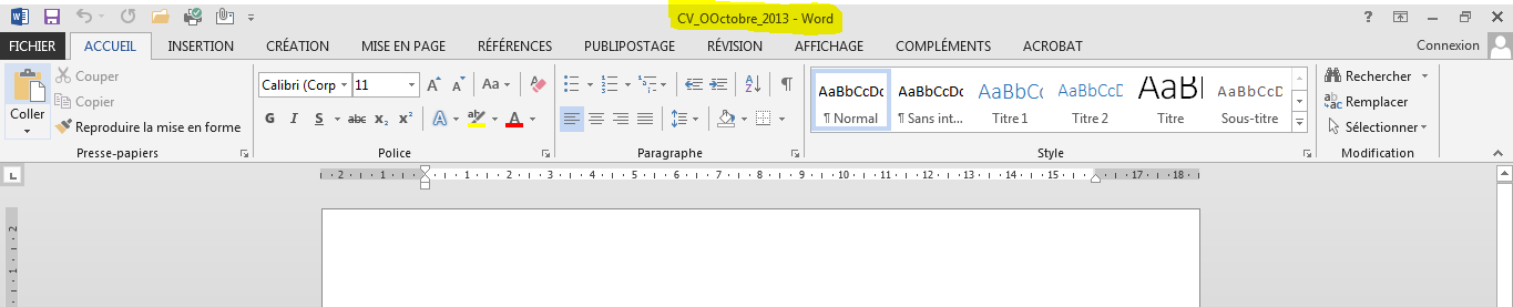 Enregistrer un document Word